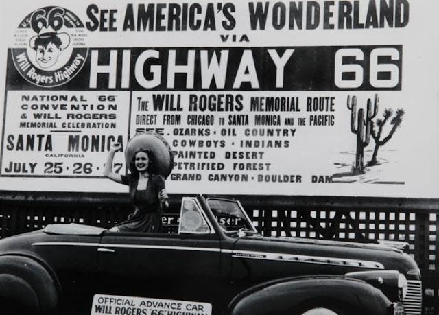 Recorrido de la Ruta 66 en tributo a Will Rogers