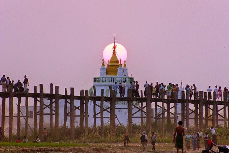 U Bein Bridge, Myanmar | The Oldest and Longest Teakwood Bridge in the World