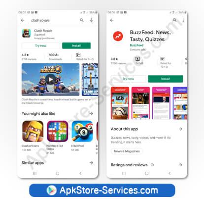 ابحث عن تطبيقات Android الفورية المدرجة في متجر متجر جوجل بلاي