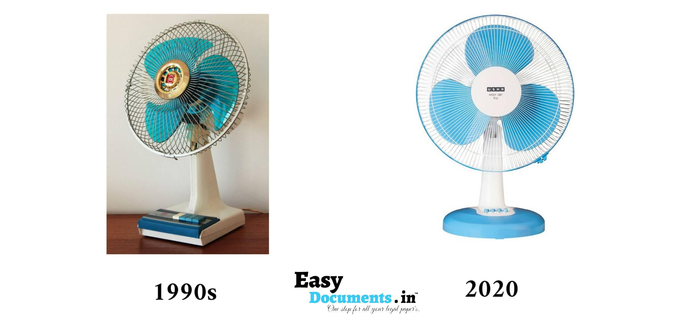Fan in 90s vs 2020