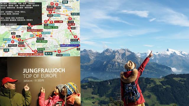 瑞士行程規劃