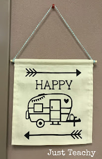 Happy Camper Banner, camping theme and activities