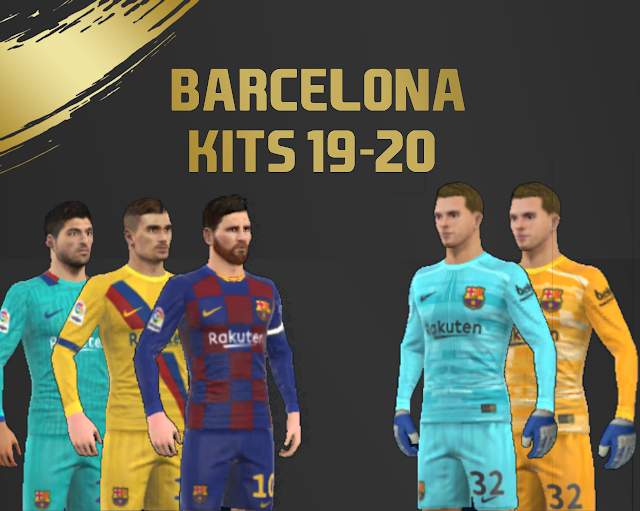 Fc Barcelona New 2019-2020 Logo And Kits For Dream League Soccer-Dream League Soccer Kits