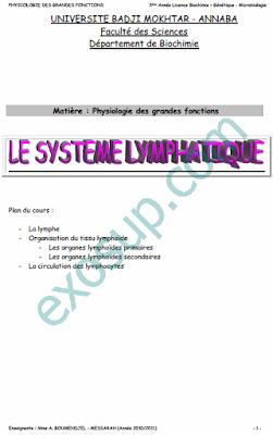 cours de physiologie des grandes fonctions svi S5 bgm