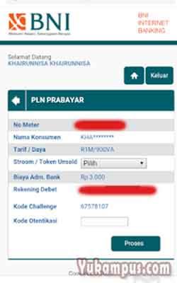 konfirmasi beli token listrik bni internet banking