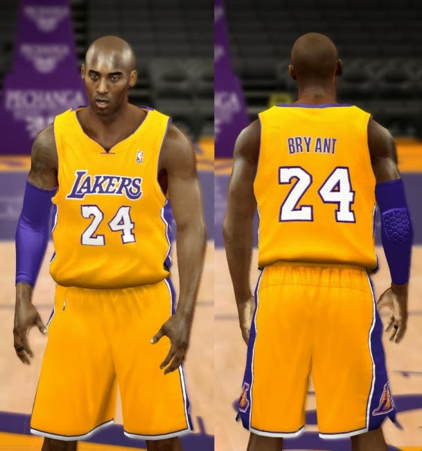 NBA 2K14 Lakers Jersey Mod Pack