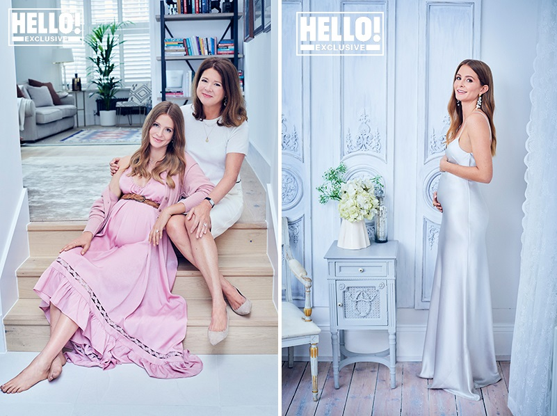 Pregnant Millie Mackintosh posed for a stunning photoshoot with her lookalike mum Georgina