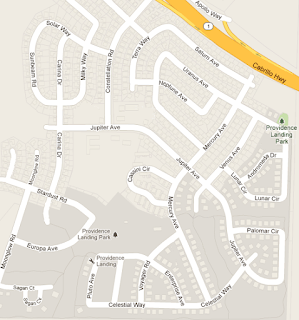 Map of Space Streets in Lompoc, CA