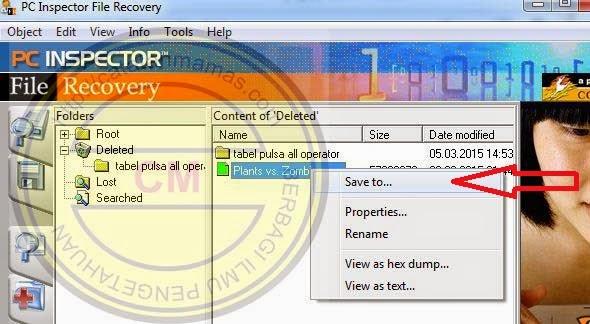 Mengembalikan File atau Data Yang Terhapus Secara Permanen