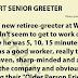 WAL-MART SENIOR GREETER