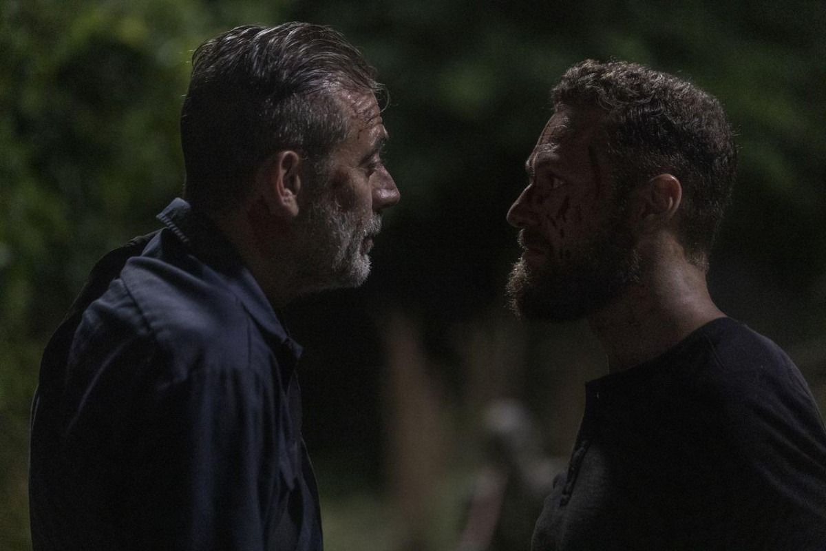 Aaron y Negan, en el episodio 10x03 de The Walking Dead