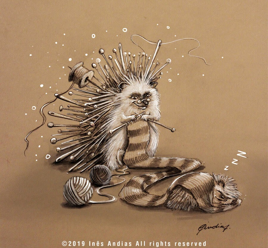 01-Prickly-Hedgehog-Ines-Andias-www-designstack-co