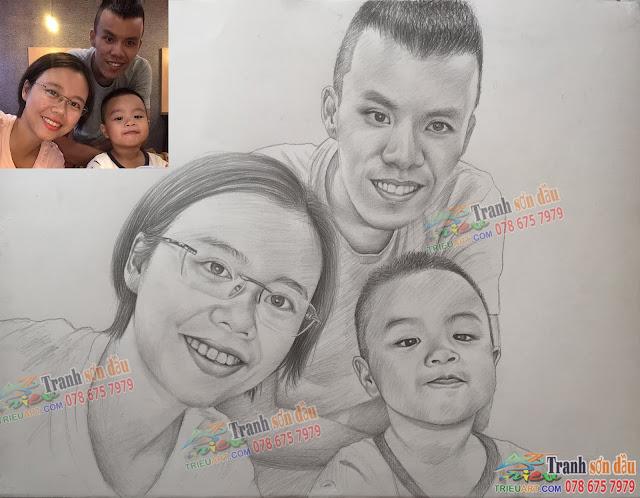 chân dung gia đình