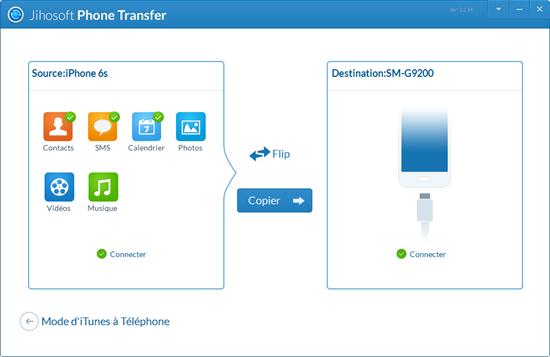 transfert icloud vers android