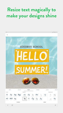 adobe spark post for android released social media graphic design