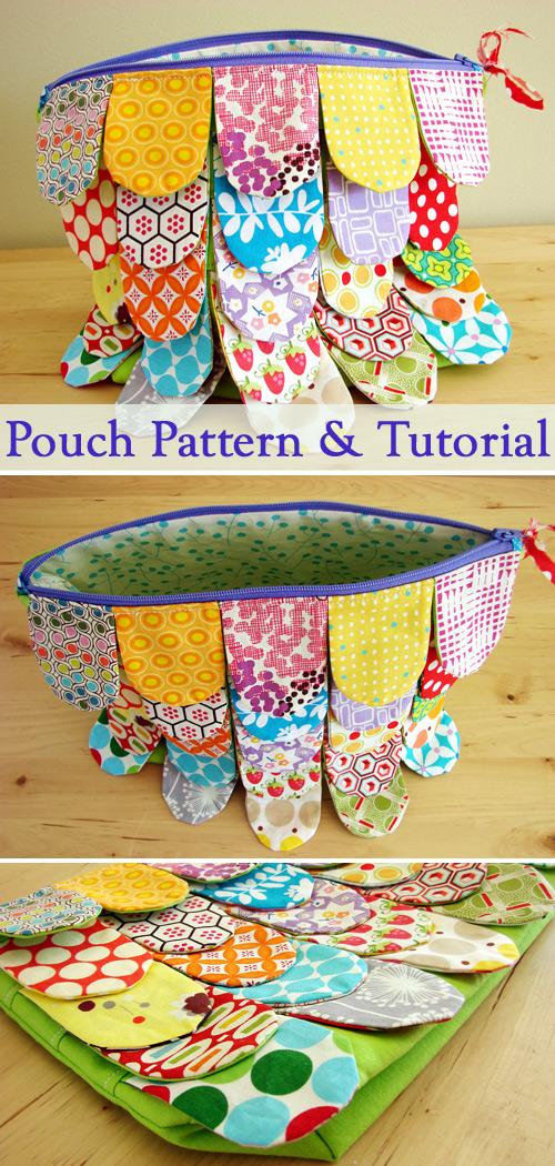 Scrappy Zipper Pouch Tutorial & Pattern