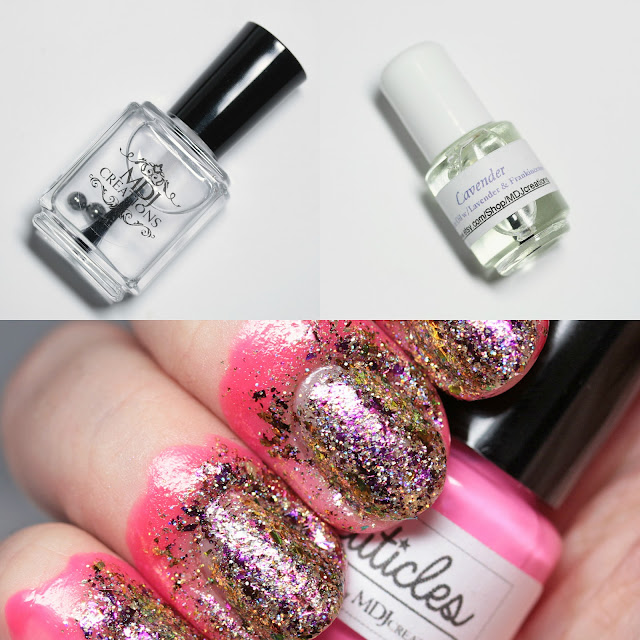 MDJ Creations Cuticle Oil, Liquid Nail Tape, and Top Coat
