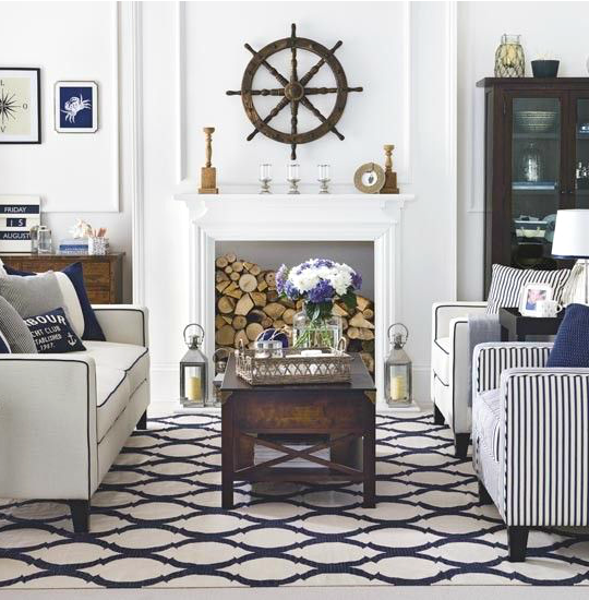 Hamptons Style Coastal Living Room