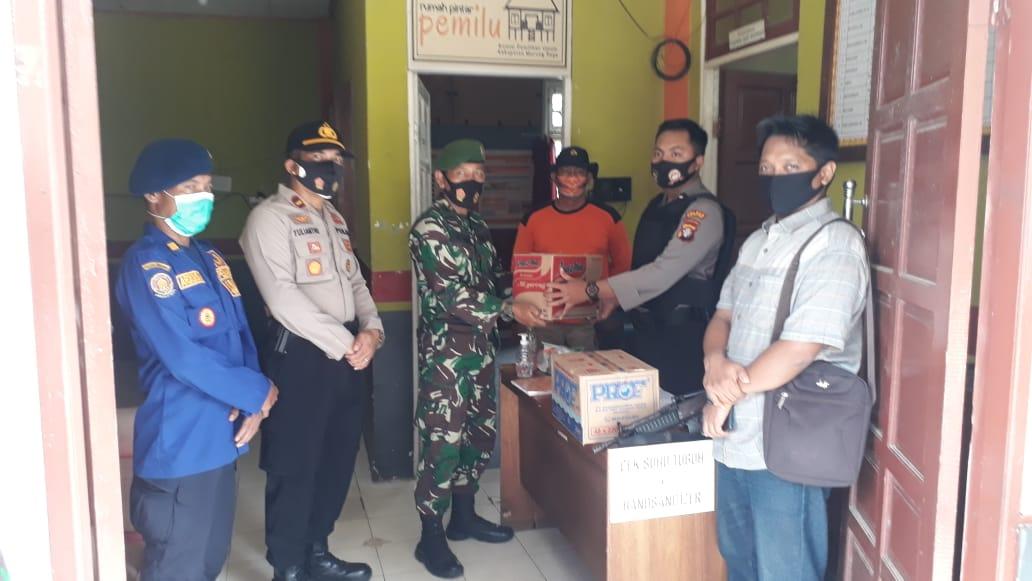 Sinergitas TNI-Polri Solid Dalam Mencegah Penyebaran Covid-19 Di Murung Raya