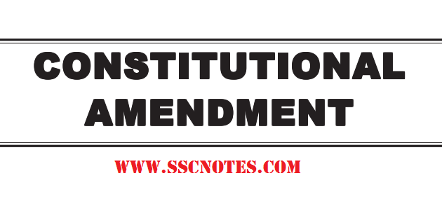 Constitutional Amendment for Competitive Exams PDF Download
