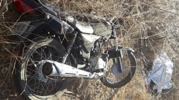Mais um acidente envolvendo motocicleta faz vítima fatal no Sertão