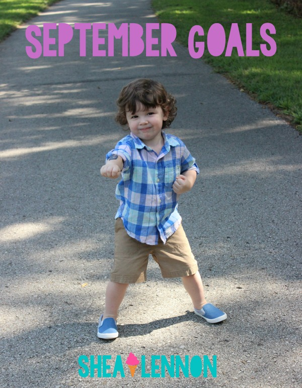 Writing down and sharing my goals each month helps me stay on top of them. Here are my goals for September (plus how I did in August). What goals are you setting this month?