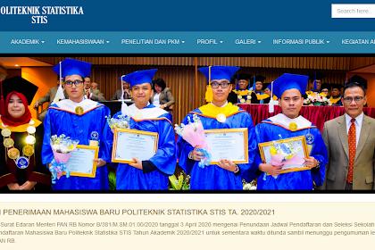 Penerimaan Mahasiswa Baru STIS Tahun Ajaran 2020/2021 untuk Sementara Waktu di Tunda