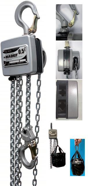 Aluminium-Stirnradflaschenzug/ Aluminium Spur Gear Hoist/ Palan manuel en aluminium