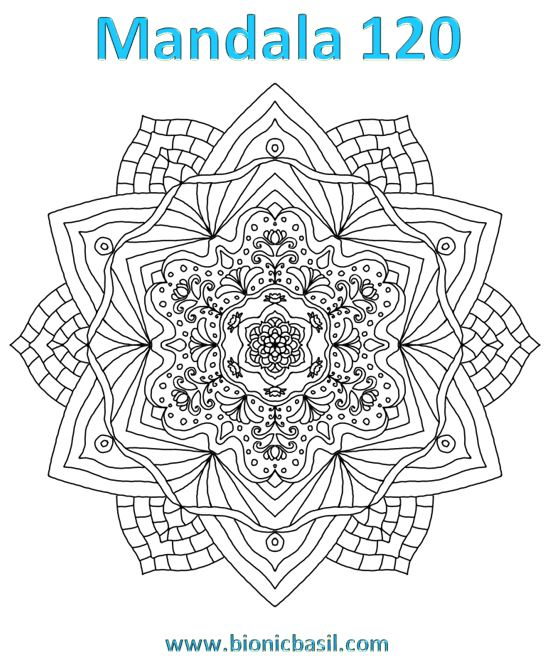 Mandalas on Monday ©BionicBasil® Colouring With Cats Mandala #120 Downloadable Image