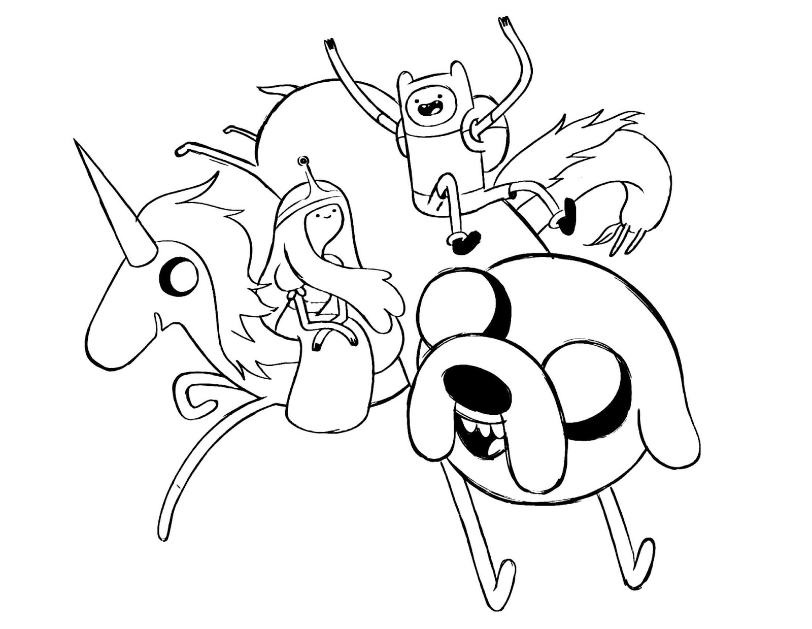 cartoon network adventure time with finn and jake coloring pages