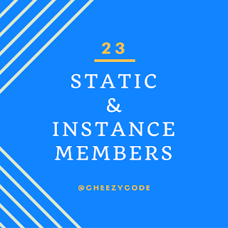 What are static and instance members in csharp