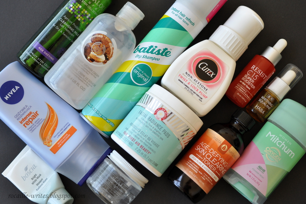 Beauty Empties: 1st Quarter of 2016