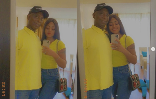 Regina Daniels and Ned Nwoko twinning in new photos