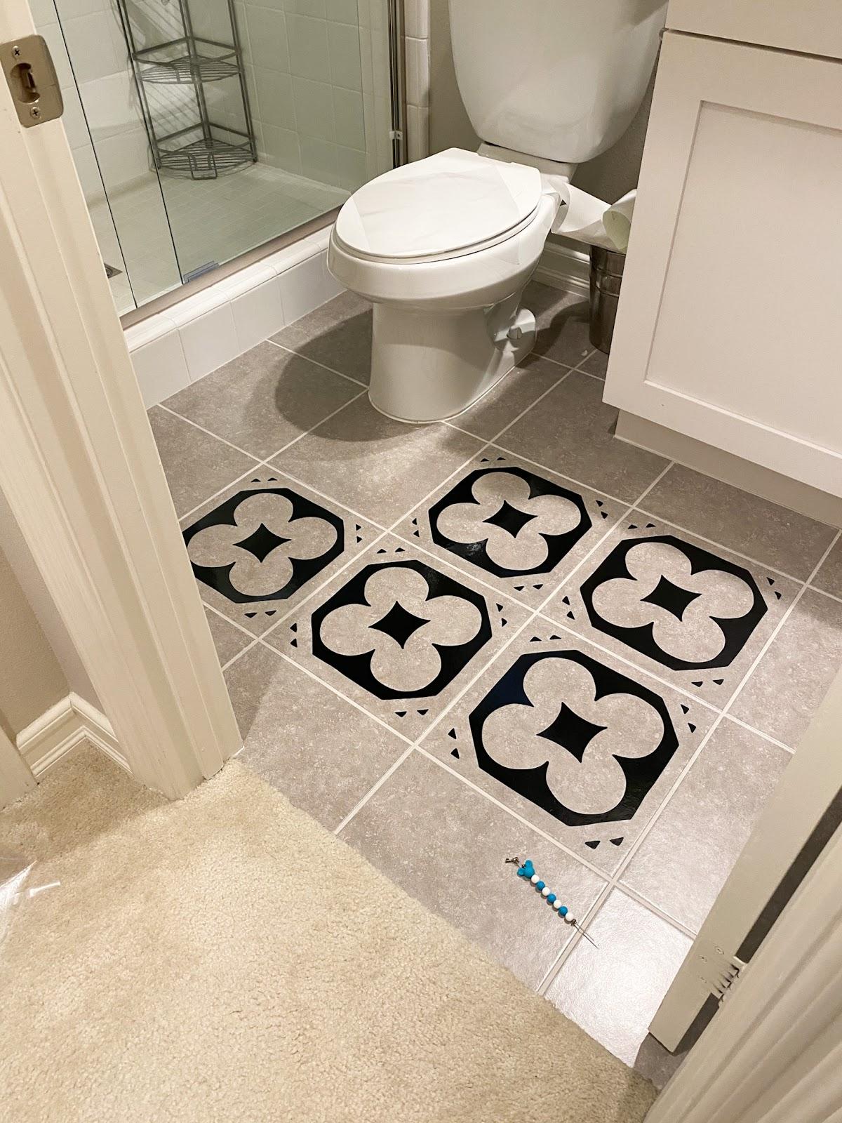 Add Vinyl To Floor Tiles For A