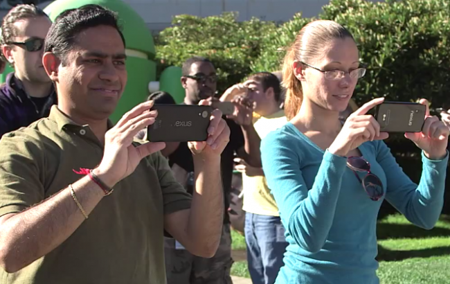 Google employee Capturing Photos Via LG Nexus 5