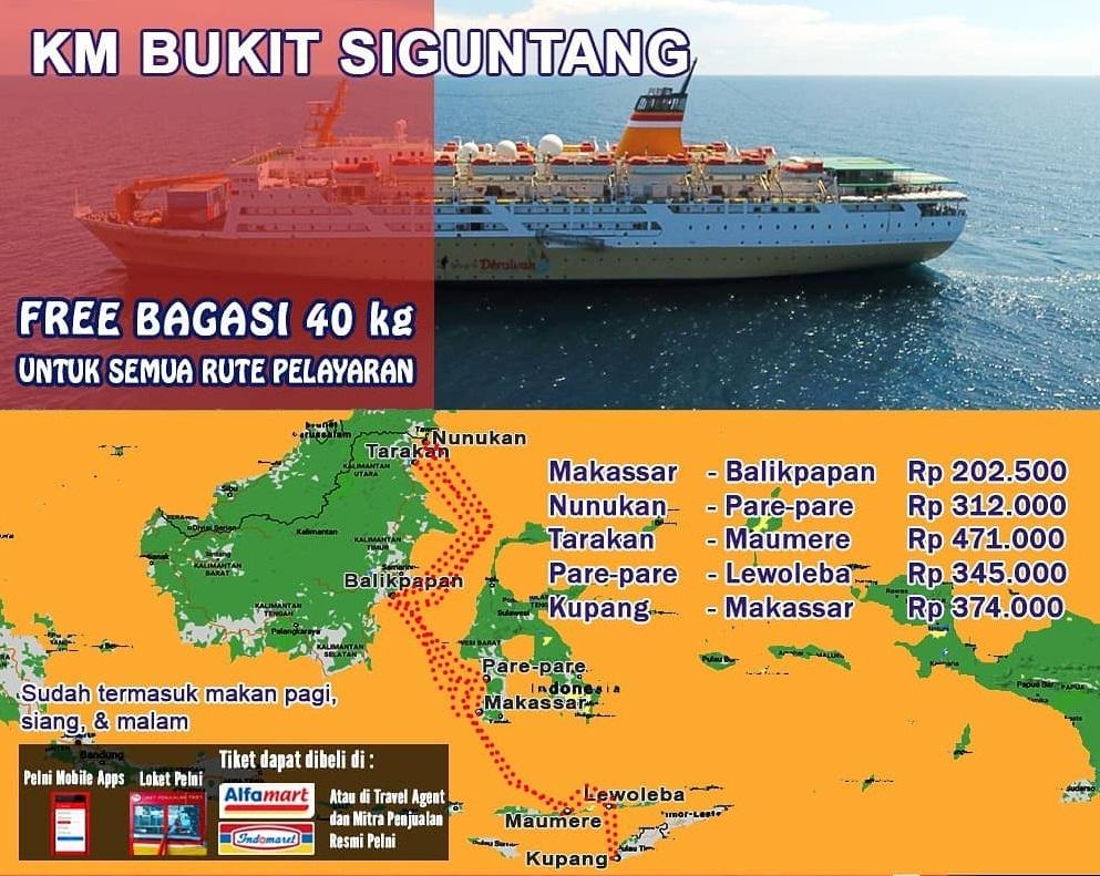 Jadwal Kapal Pelni Bukit Siguntang Desember 2020 Harga Tiket