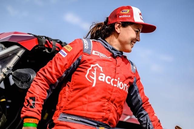 Laia Sanz, a las puertas del podio en su debut en la Baja Dubái