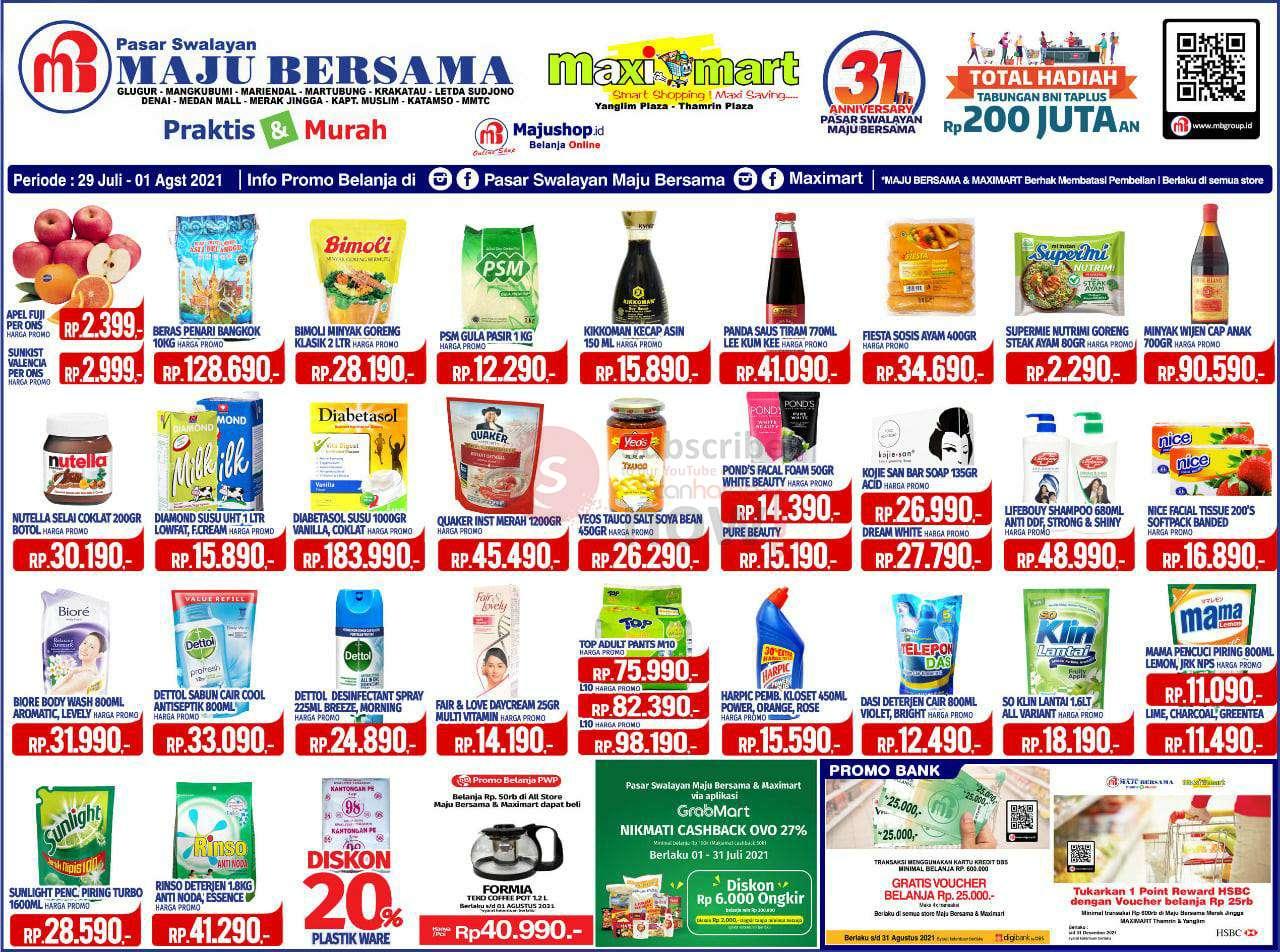 Katalog Promo Maximart Pasar Swalayan 29 Juli - 1 Agustus 2021