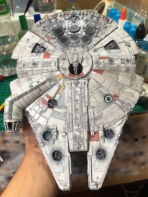 Bandai Millennium Falcon Watercolor Weathering Wash