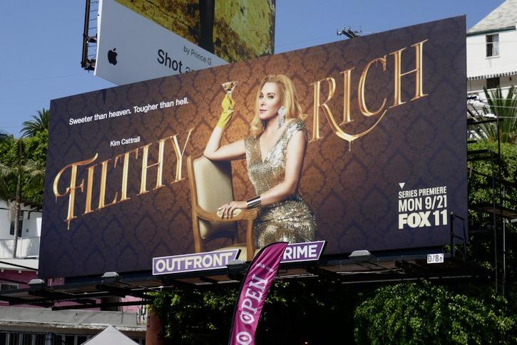 Kim Cattrall Filthy Rich TV billboard