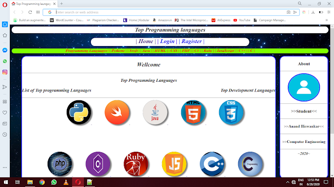 Code learning Html Css Mini Project | diploma Html Mini Project | source code | download | Free |