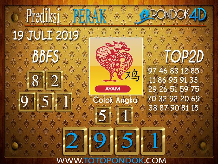 Prediksi Togel PERAK POOLS PONDOK4D 19 JULI 2019