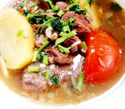 Resepi Sup Daging Ala Thai Yang Ringkas
