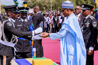 President Buhari Attend Police Cadets Graduating Ceremony In Kano (Photo)