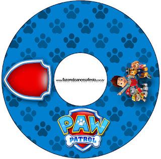 Etiqueta CD´s para Imprimir Gratis de Paw Patrol.
