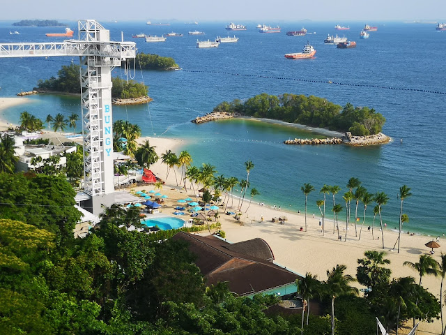 Bungy Jump at Siloso Beach