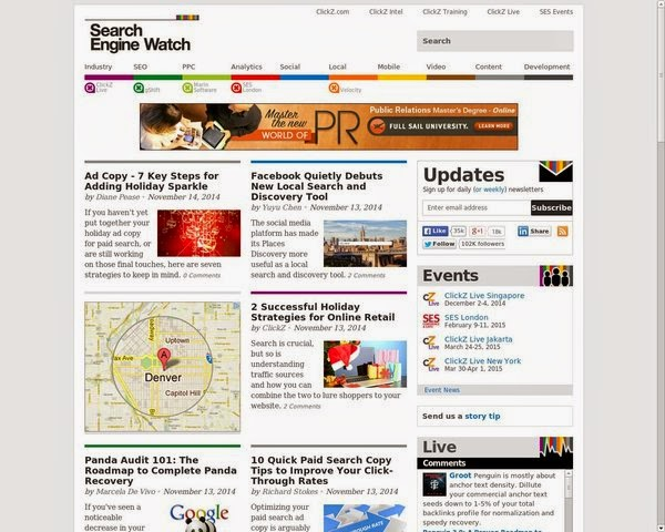 SearchEngineWatch-the 7th Most trusted Brand online for SEO and Traffic