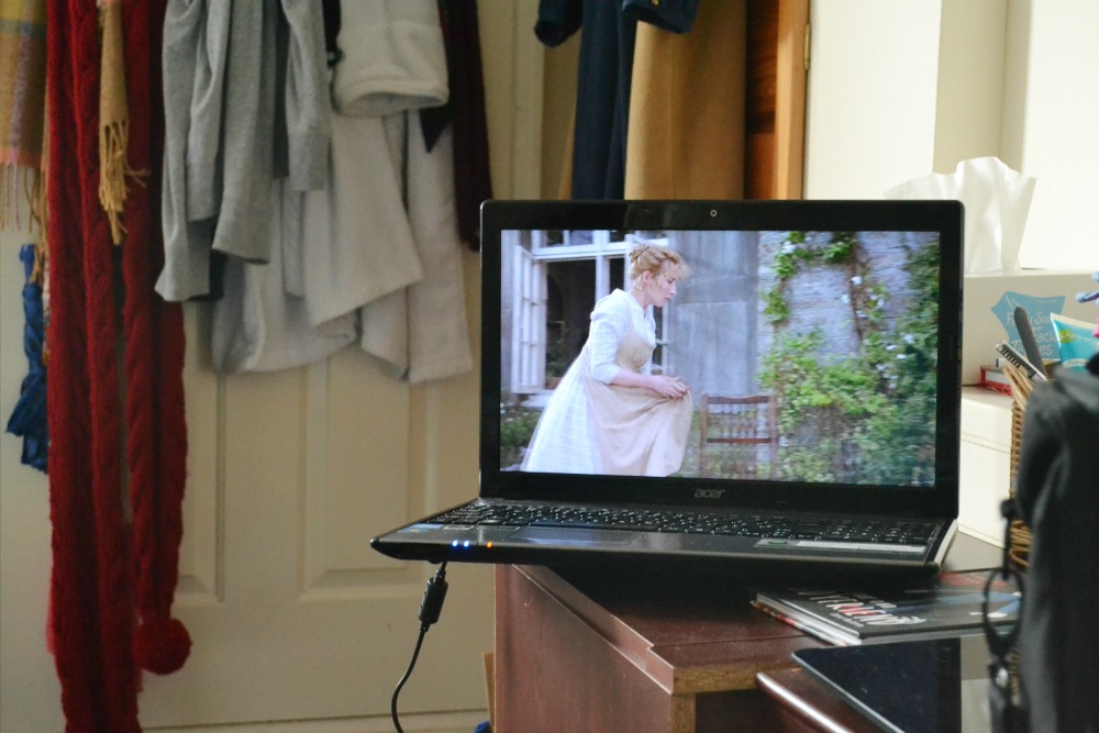 movie sense and sensibility emma thompson laptop netflix bedroom