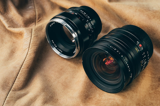 LEICA ELMARIT-R 19 mm f/2.8 size comparision