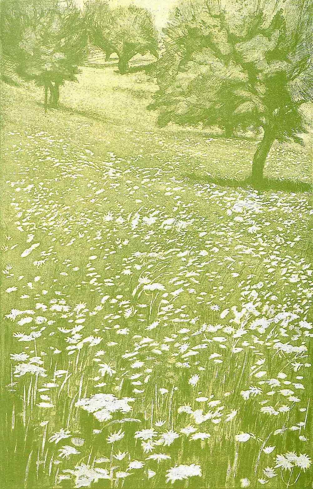 H. Seufferheld 1900 art, a wild green field